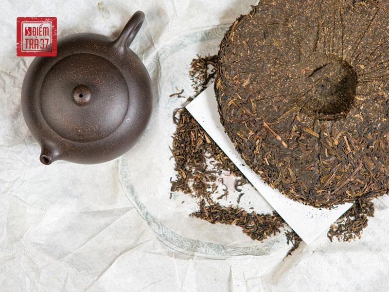 Trà bánh Phổ Nhĩ là loại trà tiêu biểu của việc lên men trà